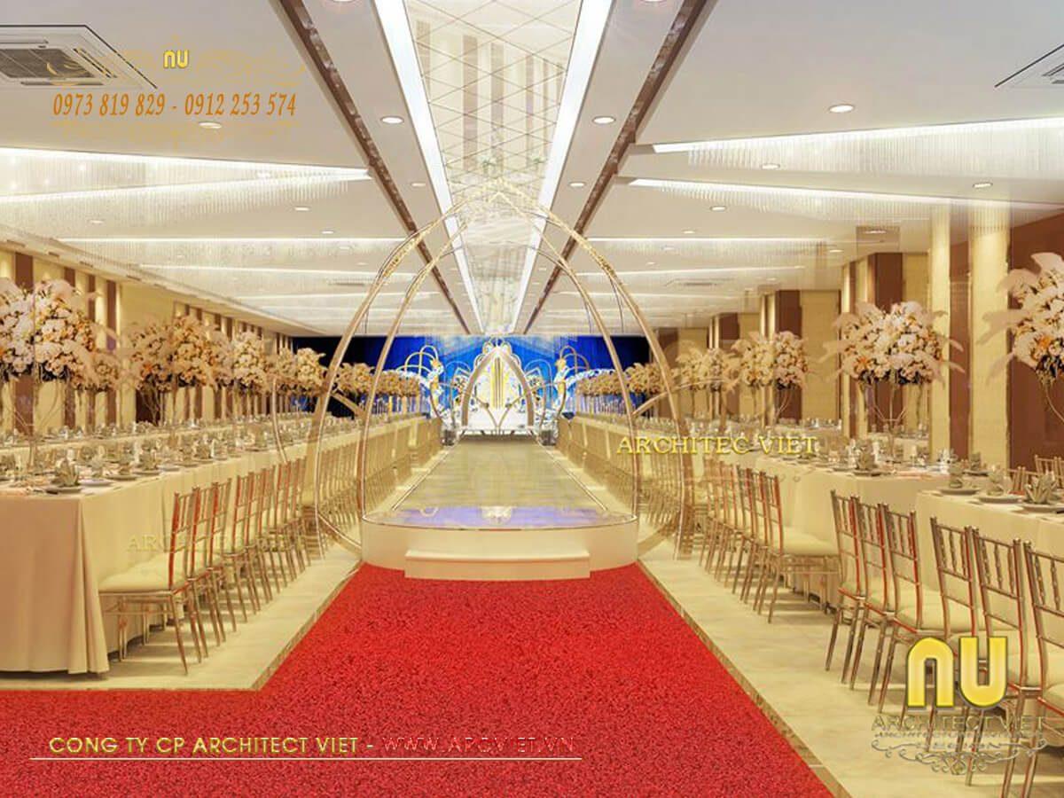 Thiết kế nhà hàng tiệc cưới đầy ấn tượng và sang trọng nhất 2019