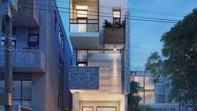Thiết kế nhà ở 3 tầng đẹp diện tích 5x14m tại Hưng Yên