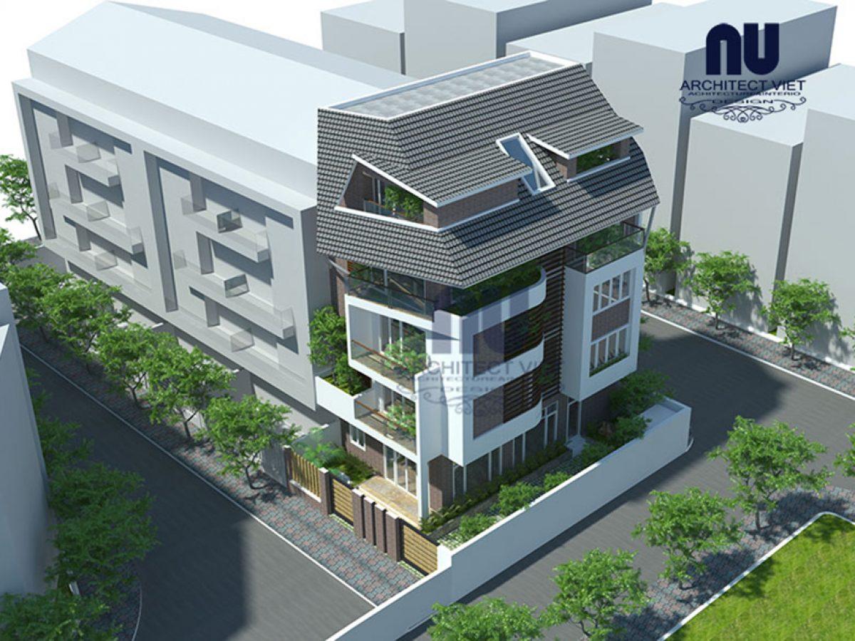 Thiết kế nhà ở 5 tầng đẹp 7x12m hiện đại tại Cầu Giấy