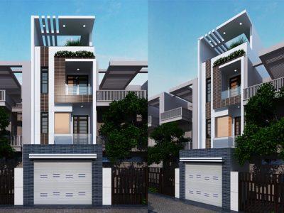 Tham khảo thiết kế nhà phố 4 tầng 4x16m đẹp