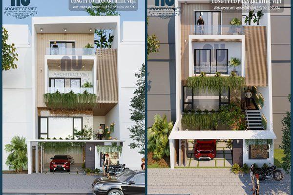 Ngắm nhìn mẫu nhà phố 4 tầng hiện đại 8x20m sang trọng tại Yên Bái