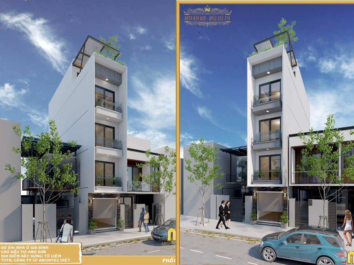 Các mẫu thiết kế nhà phố đẹp sang trọng và đẳng cấp bậc nhất Hà Nội