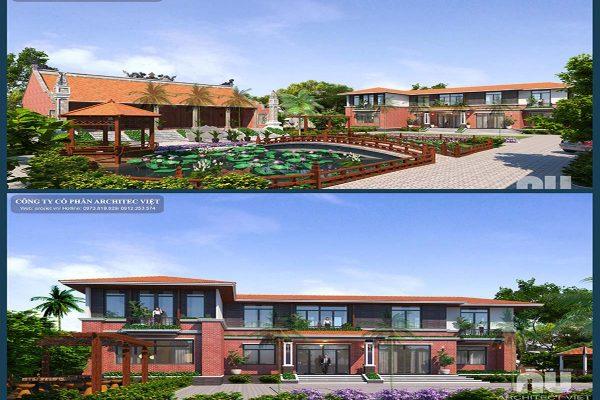 Tham khảo thiết kế nhà vườn 2 tầng hiện đại 310m2 đẹp nhất 2019