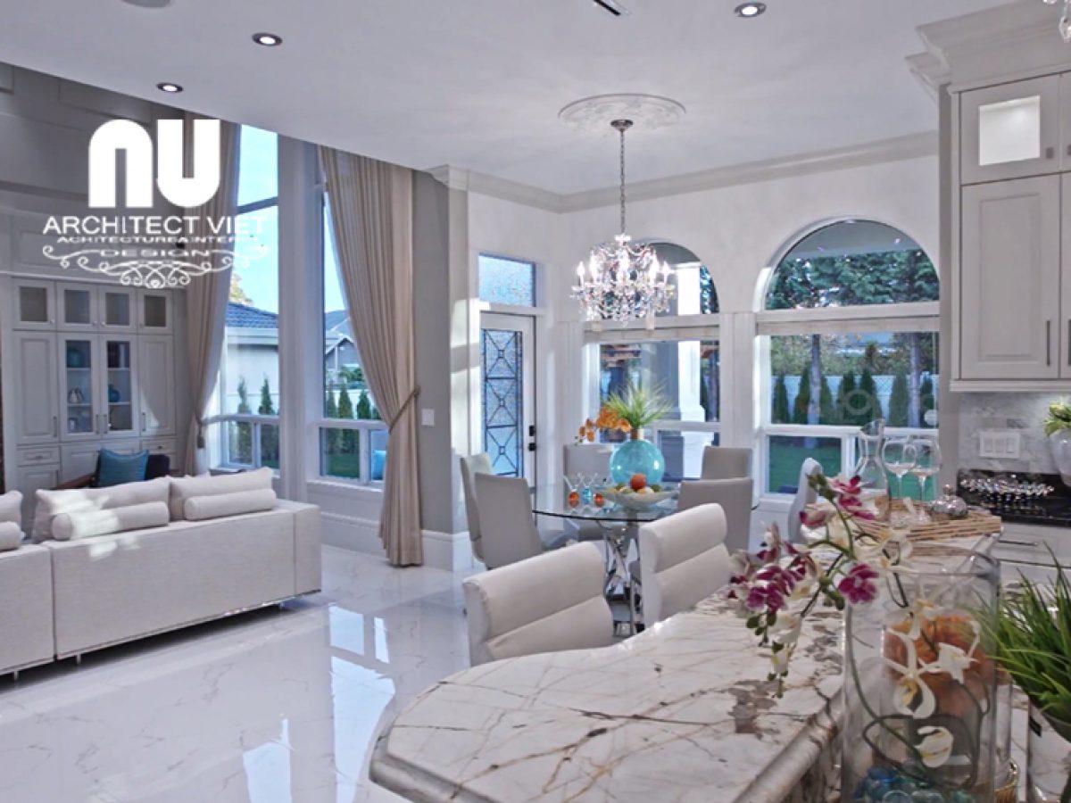 Thiết kế nội thất biệt thự Vinhomes Green Bay diện tích 300m2