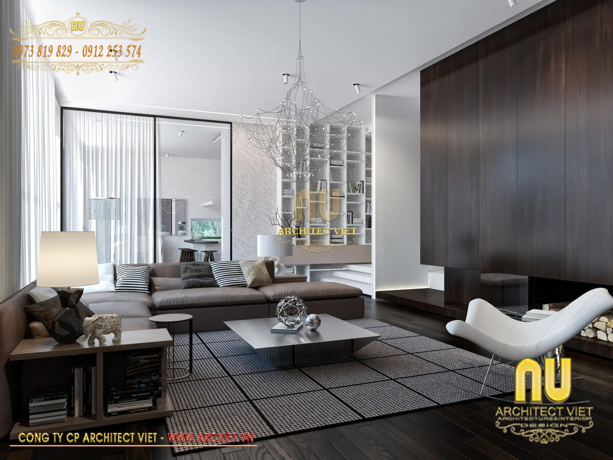 Thiết kế nội thất biệt thự hiện đại – Xu hướng mới ưa chuộng nhất 2019