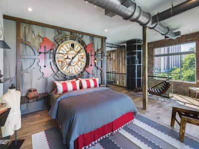 Thiết kế nội thất phòng ngủ theo phong cách Industrial