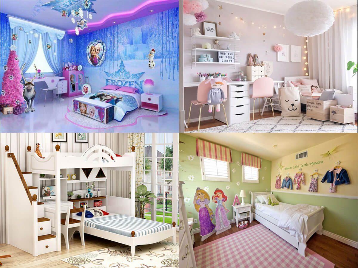 Thiết kế phòng ngủ cho bé gái với 10+ ý tưởng sáng tạo thích mê