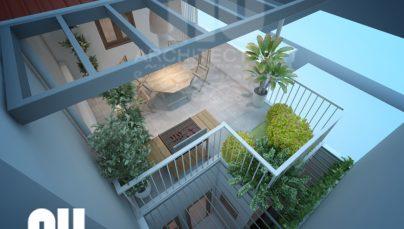 Thiết kế sân vườn tầng thượng nhà phố đẹp 30m2