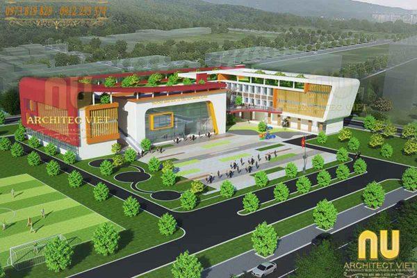 Thiết kế trường mầm non Marie Curie đẹp tại Tp. Hải Dương 2019