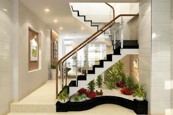 TOP 5 ý tưởng trang trí gầm cầu thang phòng khách đẹp miễn chê