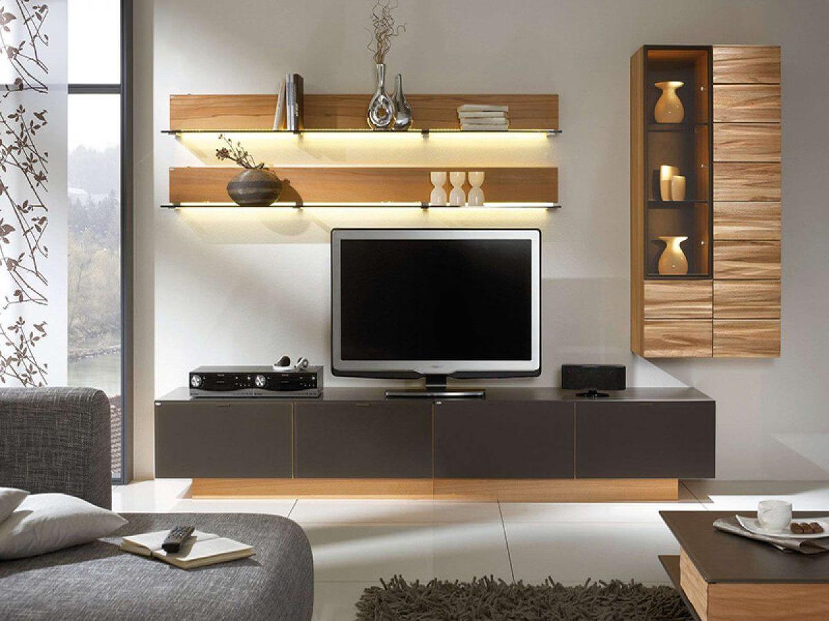Trang trí kệ tivi phòng khách đẹp và 5 lưu ý quan trọng không thể bỏ qua