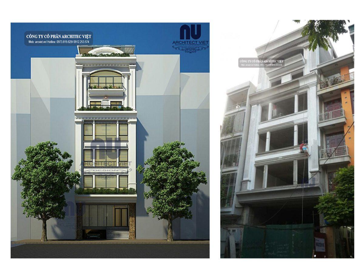 Chi phí xây nhà ở kết hợp kinh doanh 6 tầng 8×14,5